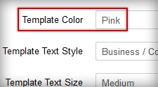 Color configuration by template parameter